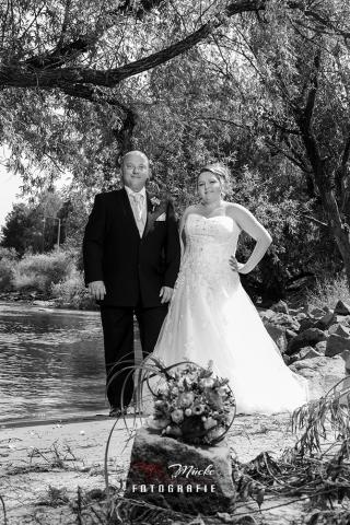 Hochzeits Fotos an der Donau